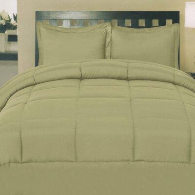 Morgan All Season Down Alternative Comforter Size: Queen, Color: Sage