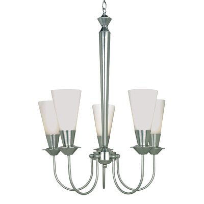 Brannon 5-Light Shaded Chandelier Finish: Polished Steel