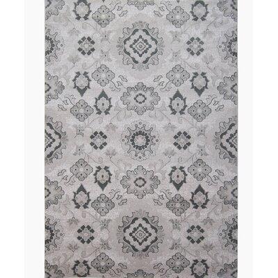 Minerva Gray Area Rug Rug Size: 53 x 72