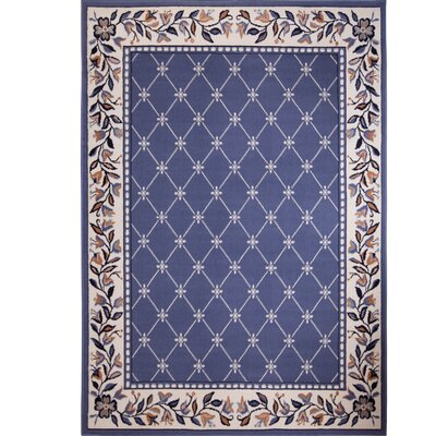 Modena Geometric Country Blue Area Rug Rug Size: 53 x 75
