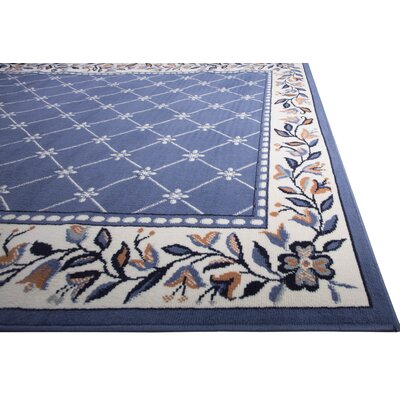 Modena Geometric Country Blue Area Rug Rug Size: Runner 110 x 73