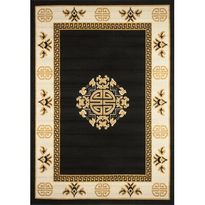 Modena Black Area Rug Rug Size: Rectangle 79 x 108
