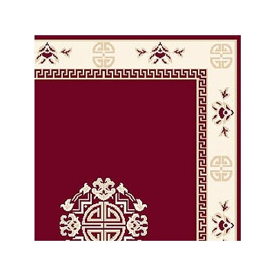 Modena Red Area Rug Rug Size: Runner 110 x 73