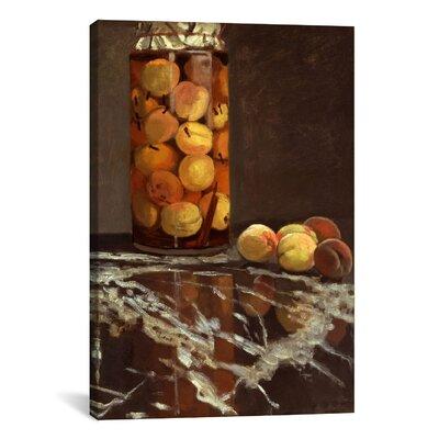 'Jar of Peaches (Das Pfirsichglas)' by Claude Monet Painting Print on Canvas Size: 12