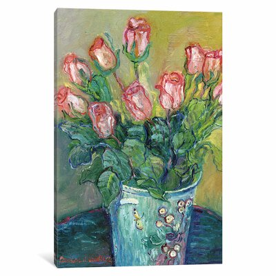 Flowers in a Vase Painting Print on Wrapped Canvas Size: 12