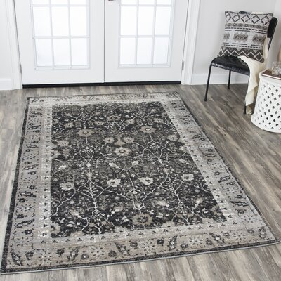 Monterrey Black Area Rug Rug Size: Rectangle 53 x 76