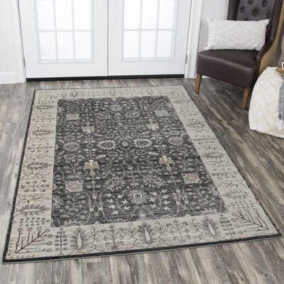 Montgomery Gray Area Rug Rug Size: Rectangle 33 x 53