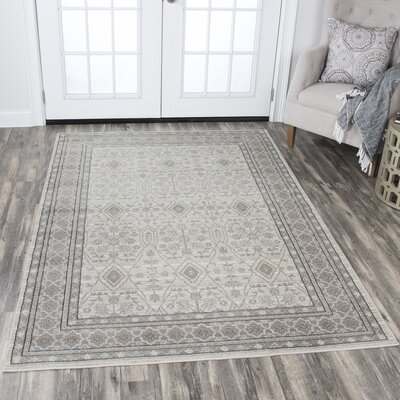 Moraine Beige Area Rug Rug Size: Rectangle 53 x 76