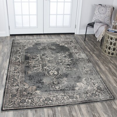 Moreland Gray Area Rug Rug Size: Rectangle 53 x 76