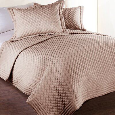 Morgandale Microfiber Stain and Water Resistant Diamond Quilt Size: Full/Queen, Color: Taupe