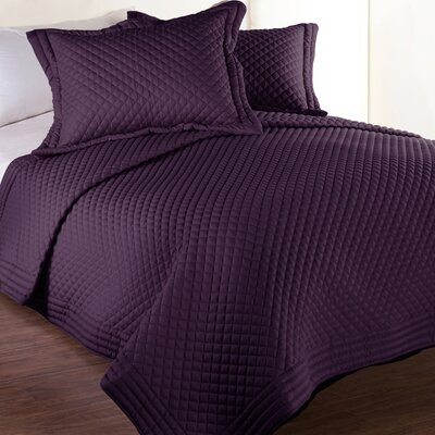 Morgandale Microfiber Stain and Water Resistant Diamond Quilt Size: Twin, Color: Fig