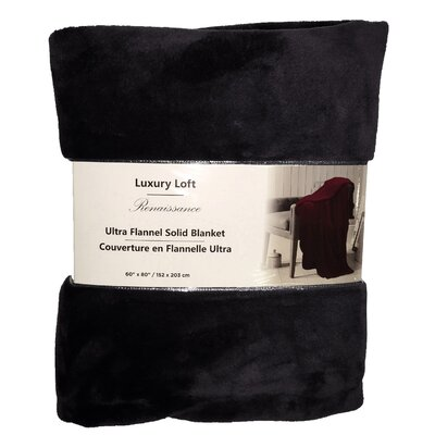 Nelson Ultra Throw Blanket Color: Black