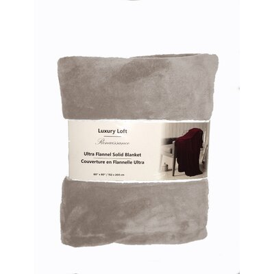 Nelson Ultra Throw Blanket Color: Taupe