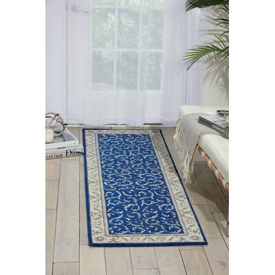 Godfrey Navy/Beige Area Rug Rug Size: Rectangle 2 x 59