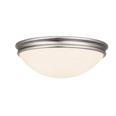 Metcalfe 2-Light Flush Mount Finish: Brushed Steel, Size: 12 H x 10.5 W x 10.5 D, Bulb Type: LED