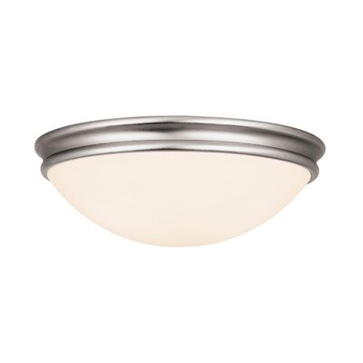 Nelsonville Flush Mount Finish: Brushed Steel, Size: 3.5 H x 10 W x 10 D