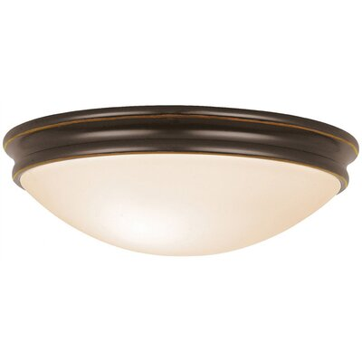 Metcalfe 2-Light Flush Mount Finish: Oil Rubbed Bronze, Size: 12 H x 10.5 W x 10.5 D, Bulb Type: Fluorescent