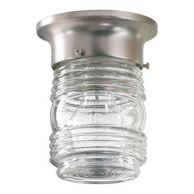 Northgate 1-Light Jelly Jar Semi Flush Mount