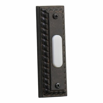 Rectangular Door Chime Button in Toasted Sienna