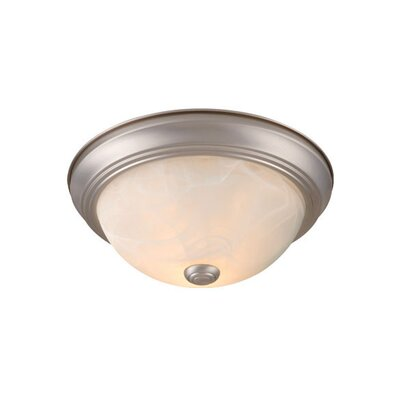 Northledge Flush Mount Finish: Brushed Nickel, Size: 4.5 H x 11 W x 11 D