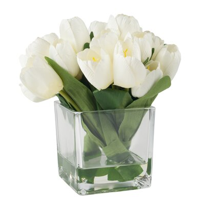 Tulip Arrangement in Glass Vase