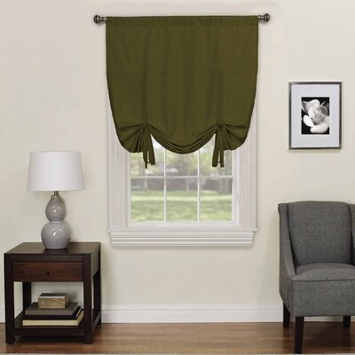 Columbia Blackout Window Tie-Up Shade Color: Artichoke