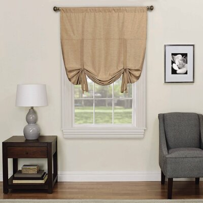 Columbia Blackout Window Tie-Up Shade Color: Cafe