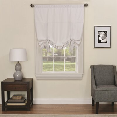 Columbia Blackout Window Tie-Up Shade Color: White
