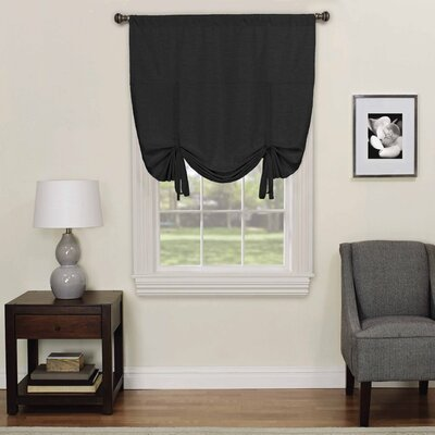 Columbia Blackout Window Tie-Up Shade Color: Black