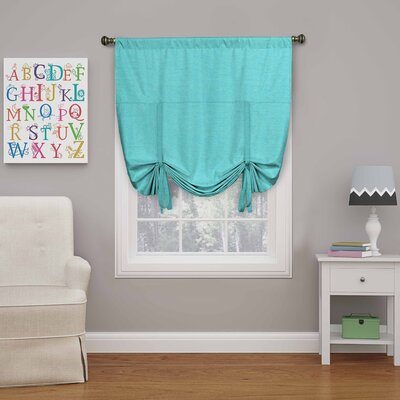 Columbia Blackout Window Tie-up Shade Color: Turquoise