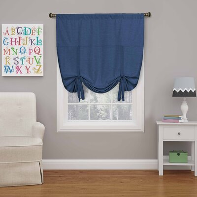 Columbia Blackout Window Tie-Up Shade Color: Denim