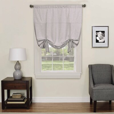 Columbia Blackout Window Tie-up Shade Color: Gray