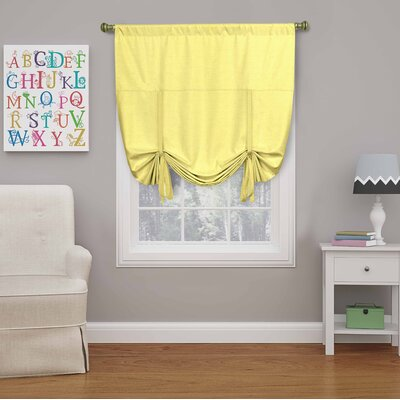 Columbia Blackout Window Tie-Up Shade Color: Lemon