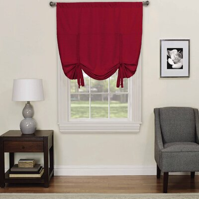 Columbia Blackout Window Tie-Up Shade Color: Ruby