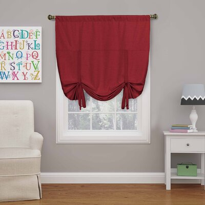 Columbia Blackout Window Tie-up Shade Color: Chili