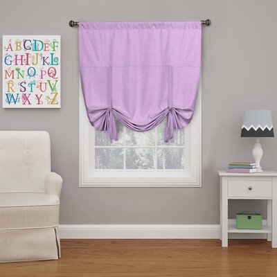 Columbia Blackout Window Tie-Up Shade Color: Light Purple