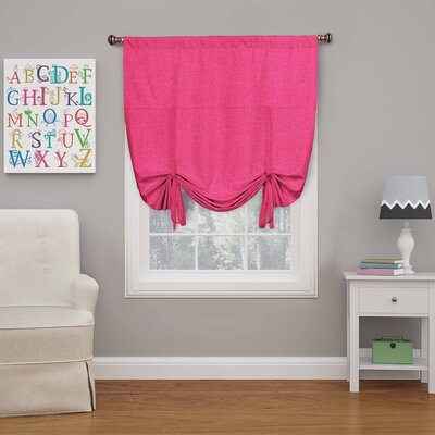Columbia Blackout Window Tie-Up Shade Color: Raspberry