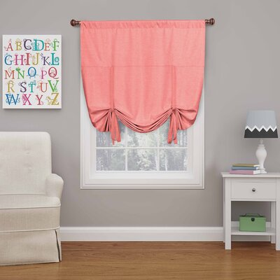 Columbia Blackout Window Tie-up Shade Color: Coral