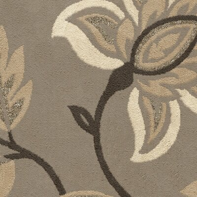 Breitkoff Taupe Area Rug Rug Size: Rectangle 53 x 76