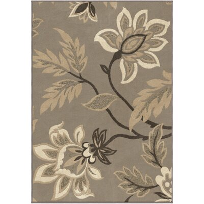 Breitkoff Taupe Area Rug Rug Size: 53 x 76