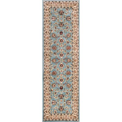 Brew Kettle Traditional Blue Area Rug Rug Size: Runner 27 x 91