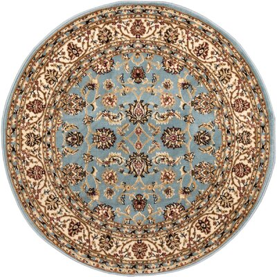 Brew Kettle Traditional Blue Area Rug Rug Size: Round 311