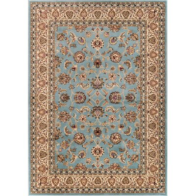 Brew Kettle Traditional Blue Area Rug Rug Size: Oval 53 x 610