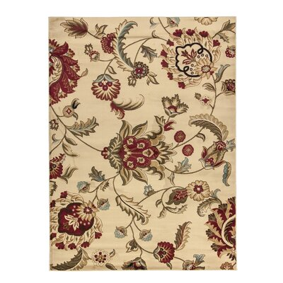 Malinda Ashley Oriental Area Rug Rug Size: 93 x 126
