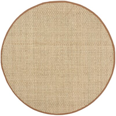 Driffield Natural/Brown Area Rug Rug Size: Round 6