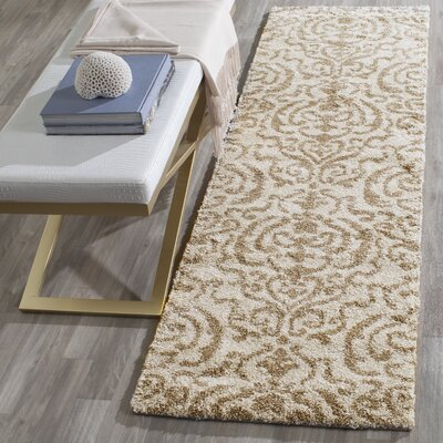 Hall Brown/Beige Area Rug Rug Size: Runner 23 x 8