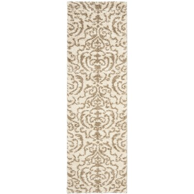 Hall Brown/Beige Area Rug Rug Size: 53 x 76
