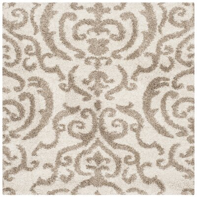 Hall Brown/Beige Area Rug Rug Size: Square 4