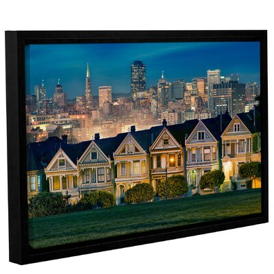 'Painted Ladies' Framed Photographic Print on Wrapped Canvas Size: 12'' H x 18'' W x 2'' D
