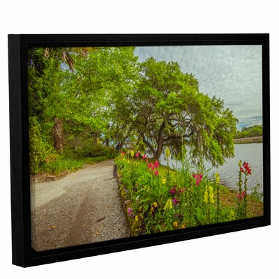 'River Path II' Framed Photographic Print on Canvas Size: 12